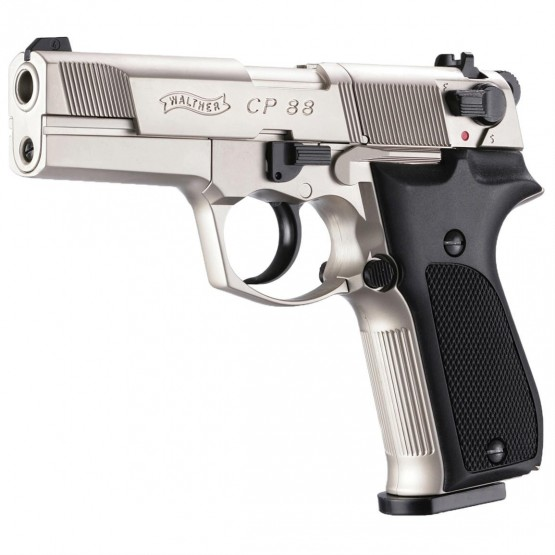 "PISTOLA WALTHER CP88 4"" NIKEL Co2"
